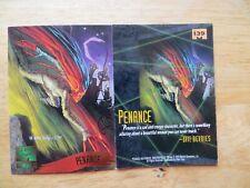 1995 FLEER MARVEL MASTERPIECES PENANCE CARD SIGNED DAVE DEVRIES ARTWORK