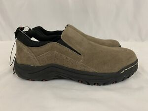 NEW KHOMBU Liam Mens Walking Hiking Work Slip Resistant Suede 1413020 Size 9.5