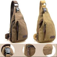 Mens Small Canvas Military Messenger Shoulder Travel Hiking Cycling Bag Backpack
