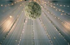 "WHITE TULLE-  600 FT 54""x120 FT(each) Wedding Bolt TULLE Bridal Quality"