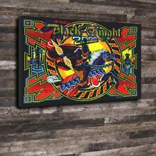 "Black Knight Pinball Back Glass Printed Canvas A1.30""x20""Deep 30mm Frame mancave"