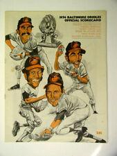 April 1974 BALTIMORE ORIOLES  vs OAKLAND A`s BASEBALL PROGRAM SCOREBOOK