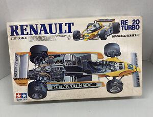 Vintage Tamiya Renault RE-20 Turbo Big Scale Series 1:12th Scale Model Kit Used