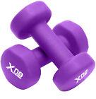 XN8 Neoprene Dumbbells 0.5-10kg Weights Pair Fitness Home Gym Training Dumbells