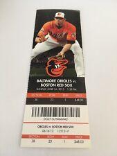 Chris Davis HR #100 Home Run June 16 2013 6/16/13 Orioles Red Sox Full Ticket