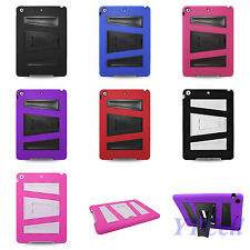 Apple iPad Air Hybrid Armor Skin Case Back Cover with Stand V1