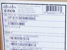 New Cisco WS-C3560X-24P-E PoE+ Gigabit Switch w/ 715W PSU, Warranty, Invoice