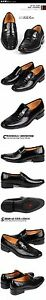 New men's shoes dress formal smooth leather slip on style loafter black