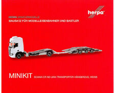 HERPA MiniKit 1:87/H0 Scania CR20 Niederdach LKW-Transporter-Hängerzug #013628