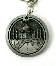 Taj Mahal India Gate Silver Metal Collectable Key Ring Holder Travel Souvenir