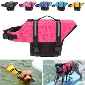 Pet PFD Dog Cat Saver Life Jacket Vest Reflective Preserver Aquatic Sailing XS-L