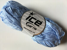 Light Blue Cotton Bamboo Yarn Ice #41448 Baby / Sport Weight 50 Gram 153 Yards