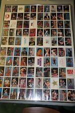 WWF 100 Card Uncut Sheet 1989 Titan Sports Classic Framed 36 x 26