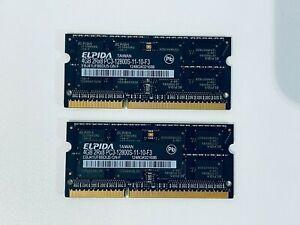 Elpida RAM 8GB 2 x 4GB PC3-12800S Memory iMac Macbook Laptop EBJ41UF8BDU5-GN-F