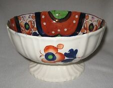 Mid 19th Century Gaudy Welsh Luster Decorated Fruit Centerpiece Footed Bowl