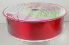 New Huge Roll Of Wire-Edge Red Ribbon • All Occasion • Gift Wrapping • Baskets