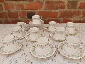 Aynsley Wild Tudor Coffee Cans & saucers