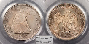 1875-S Seated Liberty 20 Cents PCGS MS-63 #US88958