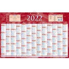 Calendrier de banque 2022 - 17.5 x 13.5 cm Rouge, Bouchut