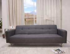 Schlafcouch 3-Sitzer Schlafsofa Couch Sofa Klappcouch Schlaffunktion Stoff grau