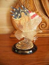 Pride of a Nation LAND OF THE FREE Patriotic Eagle Figurine MIB + COA Flag