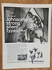1967 Johnson Boat Motor Ad Next Time Out Fish With Strong Silent Types