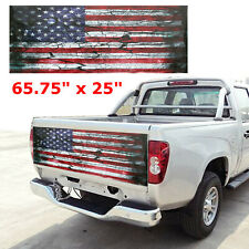 65.75'' x 25'' American Flag Truck Car Tailgate Wrap Vinyl Graphic Decal Sticker