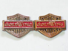 Vintage GoldWing Mini Shield Motorcycle Pin (Choice of 1 - Silver or Gold) ***
