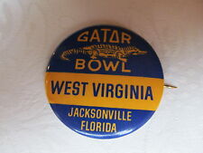 Vintage NCAA Gator Bowl Pin Back Button WEST VIRGINIA MOUNTAINEERS AA
