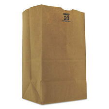 General #20Squat Grocery Bag 57lb Kraft Extra-Heavy-Duty 8 1/4x5 5/16x13 3/8 500