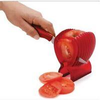 Red Fruit Vegetable Zangen Slicer Assist Guide Tomato Potato Onion Orange Holder