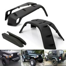 "For 97-06 Jeep Wrangler TJ 7"" Wide Pocket Extended Fender Flares Kit Black 6PC"