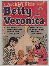 Archie's Girls Betty & Veronica 4 1951  Good / Fair condition HTF 1st DeCarlo