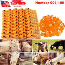 001-100 Livestock Ear Tag Set Animal Supplies Labeler Set for Goat Cow Cattle