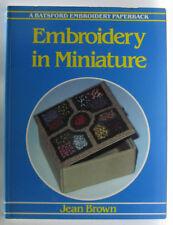 #BC^3,, Jean E Brown EMBROIDERY IN MINIATURE, SC GC