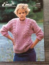 "EMU Knitting Pattern: Mesdames Chunky Pull, 32-44"", 3702"