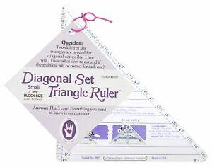 "Marti Michell Small Diagonal Set Triangle Ruler - 3"" To 9"" Blocks"