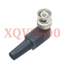 5pcs Connector Cctv Rg59 Bnc male right angle Adapter to Coaxial Cable crimp