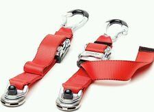 Solo rear webbing tie down wheelchair straps tongue & buckle unwin karabiner new