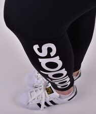 Womens adidas Essential Linear Tight White Black Big Logo Aj4592