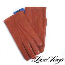 NWT Artisanos Camiseros Whiskey Nappa Leather Flannel Lined Winter Gloves 9 NR
