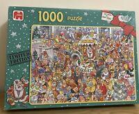 Graham Thompson Jigsaw Puzzle 1000 Piece 'Christmas Shopping' Santa Xmas Cartoon