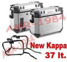 KIT 2 VALIGIE KAPPA KVE37 ALLUMINIO + TELAIO PL189  BMW R1150 GS  2000-2003