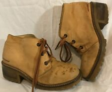 Kickers Beige Ankle Leather Boots Size 39 (161QQ)