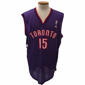Champion Replicas Vince Carter Jersey Toronto Raptors NBA Basketball #15 XL