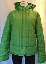 Nautica Jeans Women's Green Jacket Hood Quilted Puffy Puffer RN# 67835 NO DOWN
