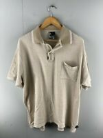 Mambo Mens Brown Pocket Collared Short Sleeve Polo Shirt Size XL
