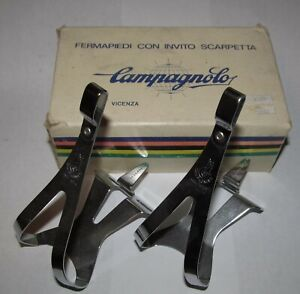 Campagnolo Nuovo Record NOS Steel Toe Clips NEW Old Stock Size MEDIUM