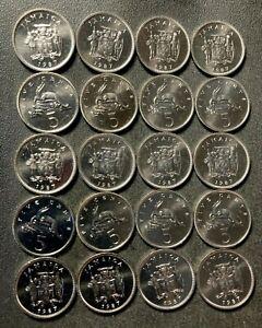 Old Jamaica Coin Lot - 5 CENTS - BU/UNC - 20 DEALER COINS - Lot #S15