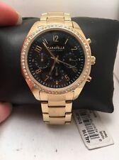 Caravelle New York Ladies Gold Tone Chronograph Quartz Watch 44L116-H78